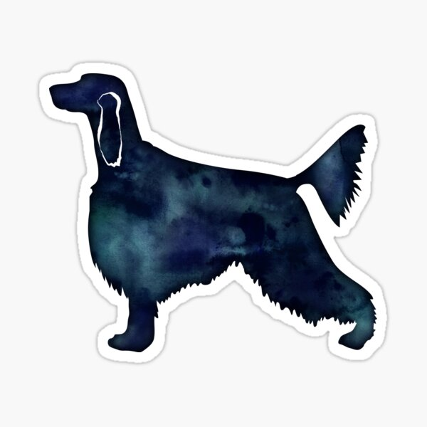 Irish Setter Dog Breed Black Watercolor Silhouette Sticker