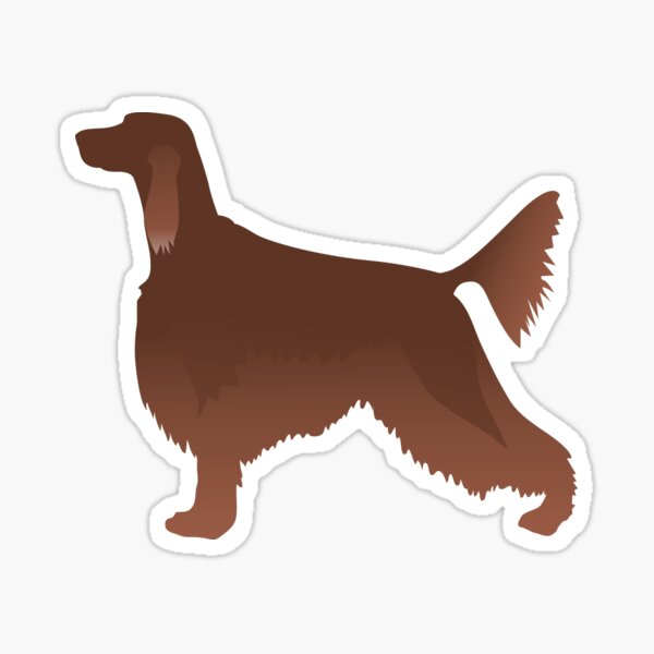 Irish Setter Basic Dog Breed Silhouette Illustration Sticker