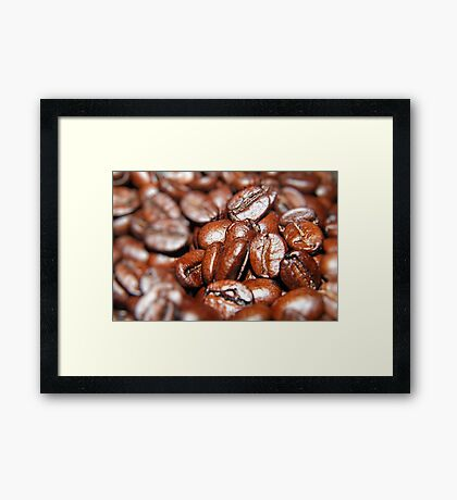 Crowded House of Coffee Beans  Framed Print