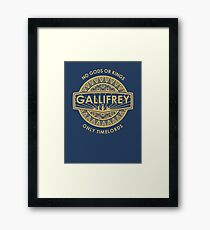 Gallifrey - No Gods or Kings, only Timelords Framed Print