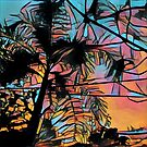Palm tree at Sunset by Casey Virata