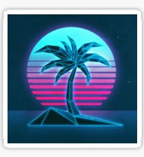 Vaporwave tree Sticker