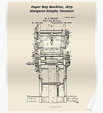 Margaret Knight, Inventor of the Paper Bag Machine Poster