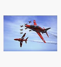 The RAF (Royal Air Force) Red Arrows Photographic Print