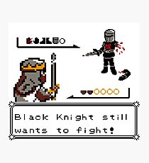 Black Knight Battle Photographic Print
