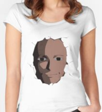 Saitama Face Expression (One Punch Man Anime) Women's Fitted Scoop T-Shirt