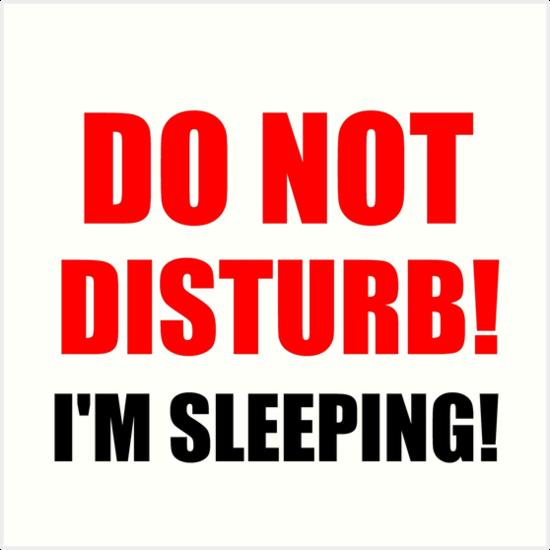 quotdo not disturb im sleepingquot art prints by divertions