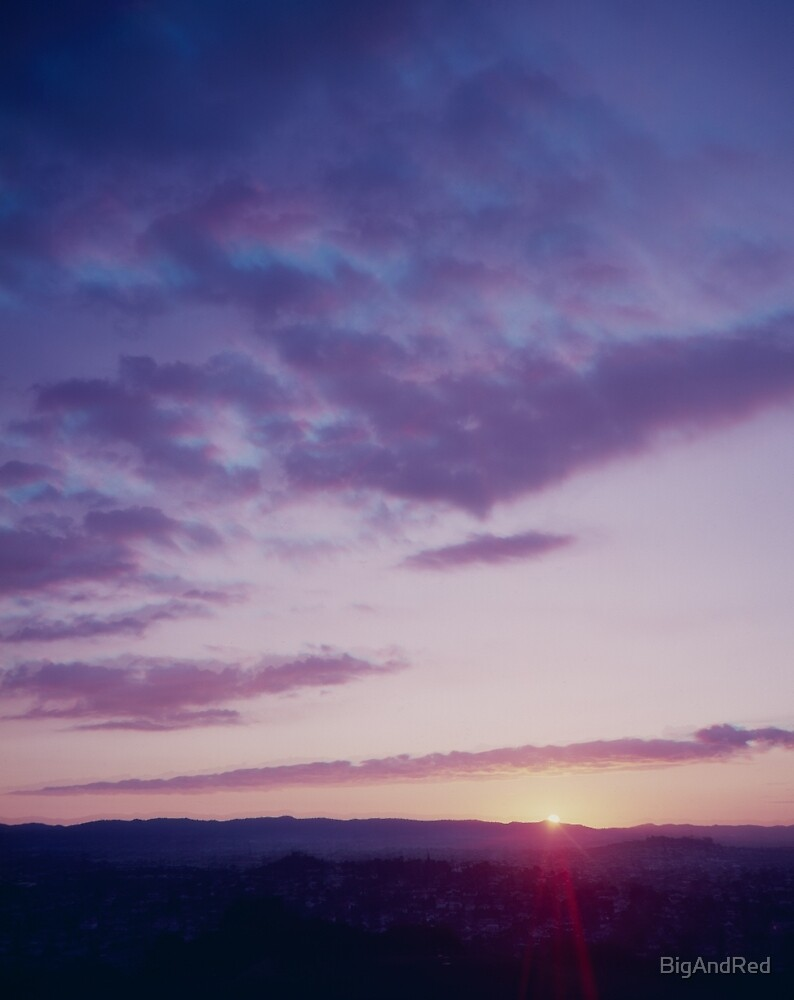 Sunset from One Tree Hill by BigAndRed