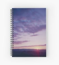 Sunset from One Tree Hill Spiral Notebook