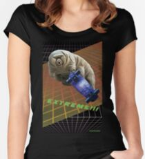 Tardigrade EXTREME 80's Space Skateboard Women's Fitted Scoop T-Shirt