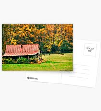 Red Barn and Deer on Blue Ridge Parkway Postcards