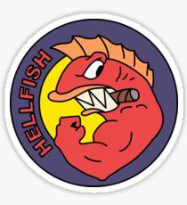 The Flying Hellfish Sticker
