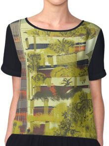 House decorated with plants Chiffon Top