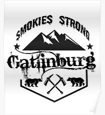 Smokies strong for Gatlinburg t shirt Poster