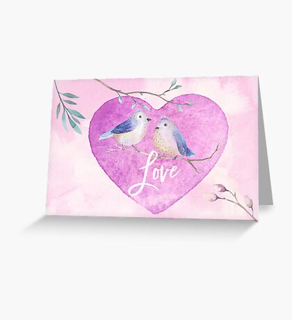 Lovebirds for Valentine's Day, or any day Greeting Card
