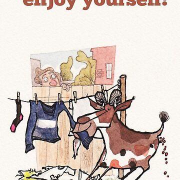 Enjoy yourself birthday card by dotmund