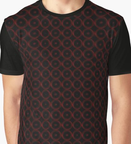 Black with Red Circles Graphic T-Shirt