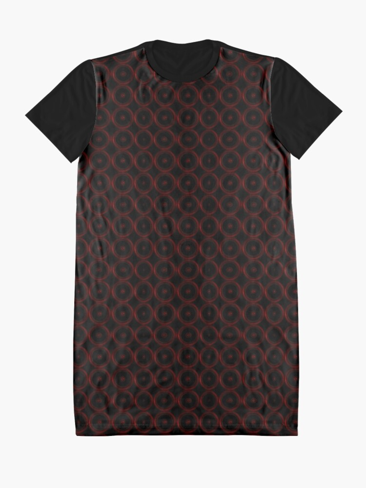 Alternate view of Black with Red Circles Graphic T-Shirt Dress