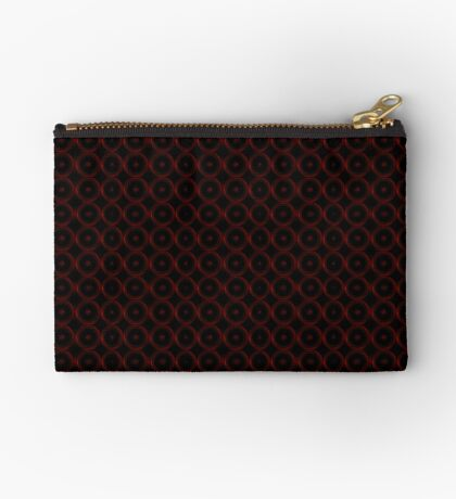 Black with Red Circles Zipper Pouch