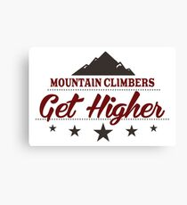 Mountain Climbers Get Higher Canvas Print