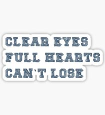 CLEAR EYES FULL HEARTS Sticker
