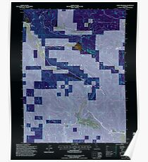 USGS TOPO Map California CA Childs Meadows 100177 1995 24000 geo Inverted Poster