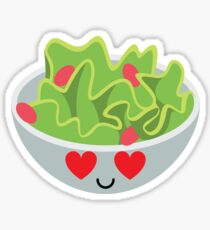 Salad Emoji Heart and Love Eye Sticker