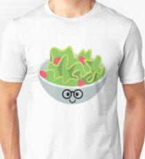 Salad Emoji Nerd Noob Glasses Unisex T-Shirt