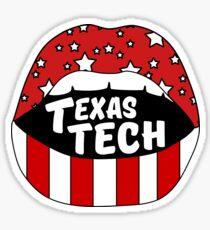 Texas Tech Lips Sticker