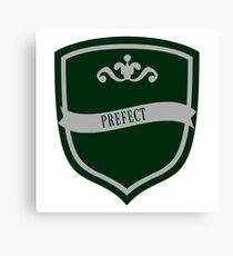 Green and Silver Badge 3 Canvas Print