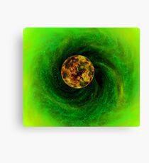 Electric green nebula Canvas Print