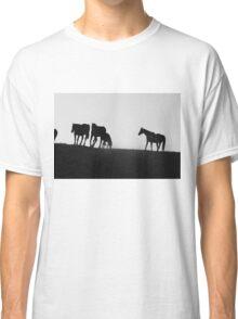 Black and White Horses Classic T-Shirt