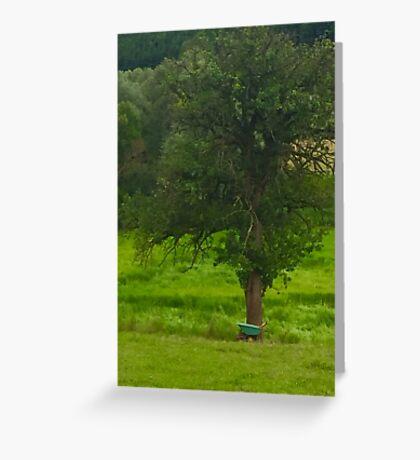Wheelbarrow and Tree Greeting Card