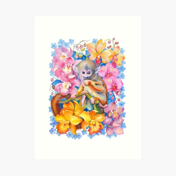 Year of the Monkey - Chinese Zodiac Watercolour Art Print