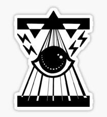 dark psychic attack Sticker