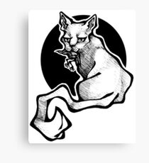 Murder Cat Canvas Print