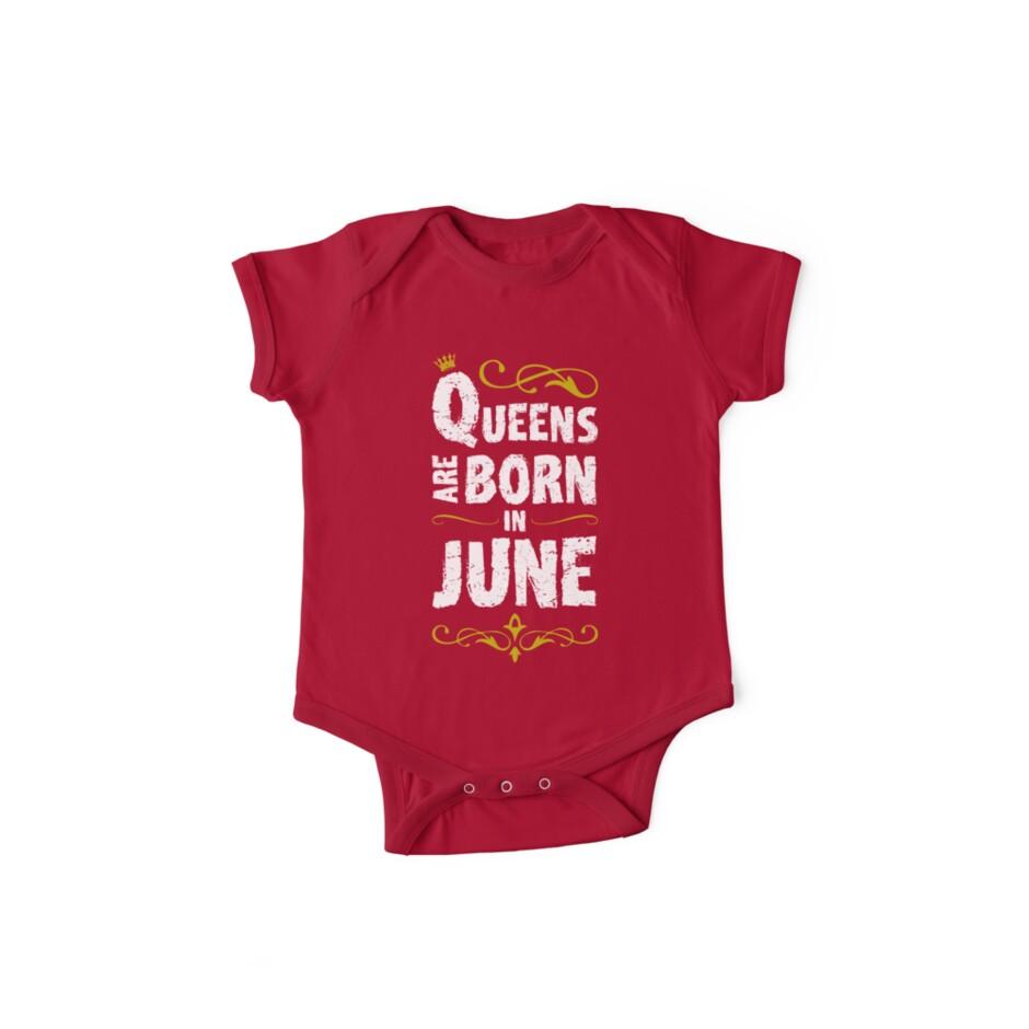 Body de manga corta «Queens nacen en junio - camiseta divertida del ... cedc2cde9fc82