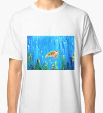 Underwater Magic 5-Happy Turtle excellent gift for fun decor  Classic T-Shirt