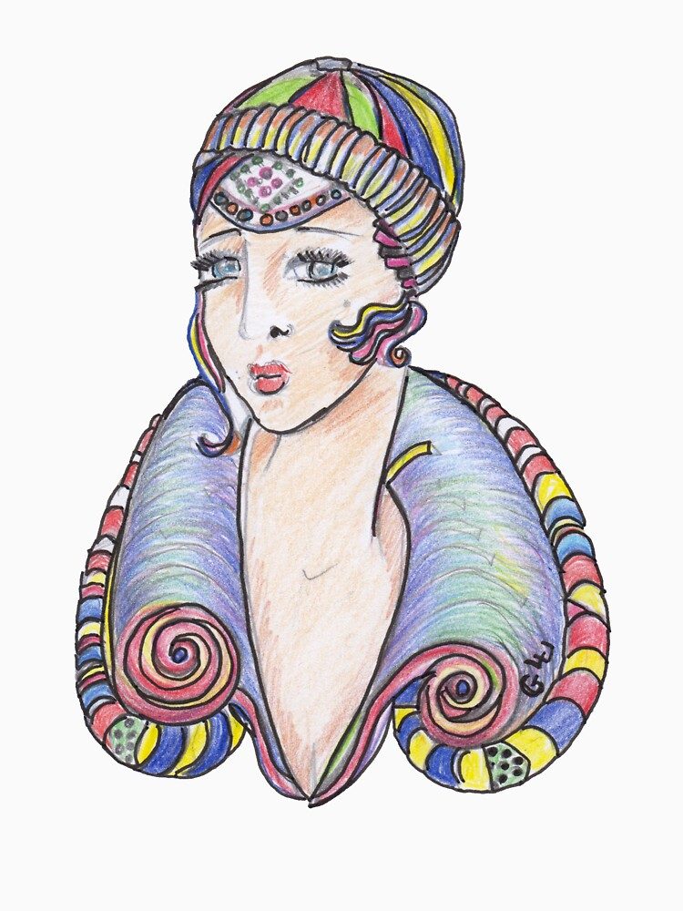Lola Art Deco Lady by GalleryGiselle