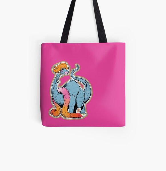 Brontina drag queen brontosaur - LGBT Dinos! All Over Print Tote Bag