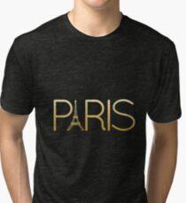 Paris - Gold Tri-blend T-Shirt