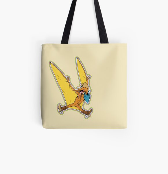 Pterry the Pterodactyl LGBT Dinos! All Over Print Tote Bag