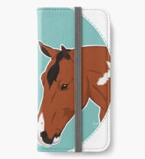 Major & Dino / paint horse dark bay tobiano bay tobiano show horses equestrian equine sports art illustration drawing iPhone Wallet