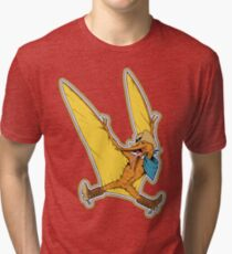 Pterry the Pterodactyl LGBT Dinos! Tri-blend T-Shirt