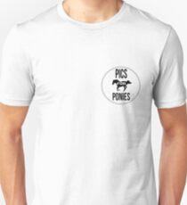 Pics For Ponies Logo Tee T-Shirt