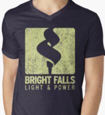 Bright Falls Light & Power (Alt.) (Grunge) Men's V-Neck T-Shirt