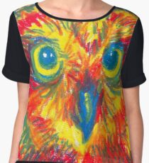 primary color owl Chiffon Top