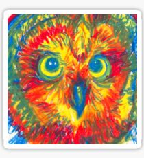 primary color owl Sticker
