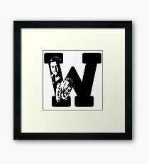 W is for Wash Framed Print