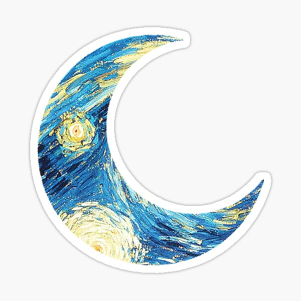 Starry Moon Sticker